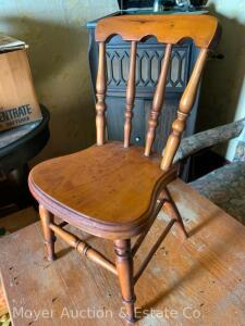 "Salesmans Sample Side Chair, signed & dated 1876 on bottom, 16""high"