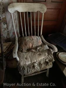 Rocking Chair, painted white