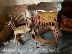 Group of 3 Assorted Side Chairs & a Rocker