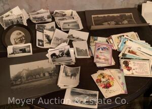 Group of Vintage Photographs, Albums & Postcards (apprx. 75 loose)