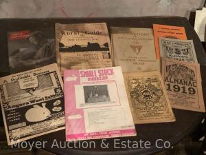 Group of Assorted Ephemera incl. agriculture, automotive, advertising blotters, almanacs, etc.
