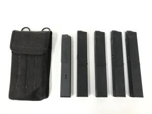 5 - S.W.D/Corbray 30 Round Magazines, 4 Plastic, 1 Metal *N.Y. Restricted* *Must be sold to FFL or Law Enforcement