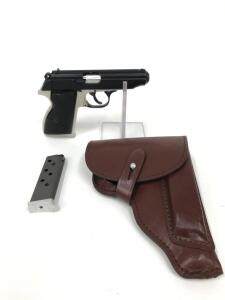 FEG/K.B.I Model PA-63, 9x18mm, Includes 2 Magazines and Leather Holster, Overall Good Condition