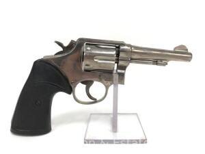 Smith and Wesson, Model 10, .38 Special, Appears to be Re-Nickeled, Includes Leather Holster