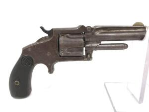 J.M. Marlin 1878 Tip Up Revolver, Believed to be .38 Rimfire, Missing Firing Pin, Will Not Lock or Rotate Cylinder