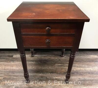 "Antique 2drawer Stand, nice condition, 21""w x 29""h"
