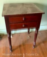 "Antique 2drawer Stand, nice condition, 21""w x 29""h - 8"