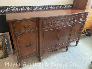 "Mahogany Buffet, nice condition, 60""wide, 30""tall , 20""deep"