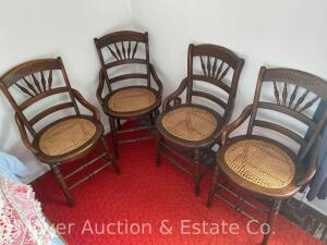 4 Cane Seat Chairs