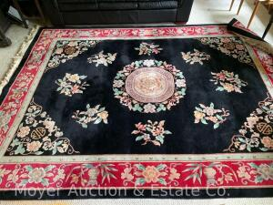 "Chinese Oriental Rug, 98"" x 132"" (8ft. X 11ft.), good condition with surface stain in spot on end)"