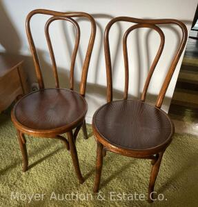 Pair of Vintage Bentwood Chairs, made in Czechoslovakia, both good condition
