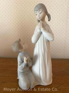 "Lladro Figurine ""Teaching to Pray"", 8 1/2""tall, good condition"