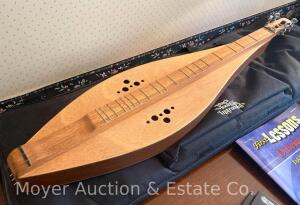 Black Mountain Instruments Dulcimer, model 26, dated 2004, includes lesson book, digital tuner, & Black Mountain soft-sided carry bag, all good cond.
