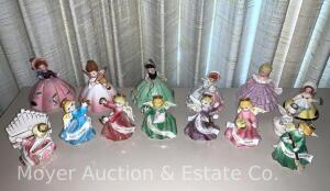 "Group of ""Days of Week"" Angel Figurines by Ardalt; & 4 Josef Originals angels, other (pictures coming)"