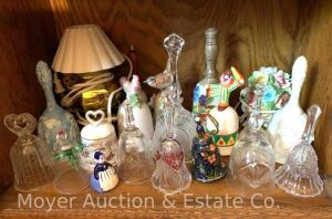 Collection of Bells, glass & China