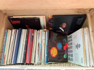 Collection of 60 Record Albums incl. Bill Cosby, Johnny Mathis, Nat King, Organ, Banjo, etc.