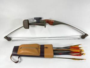 American Archery Co. Compound Bow and Quiver with Arrows