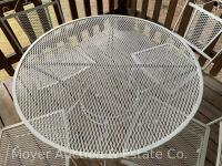 5pc. White Metal Patio Set: 36'' Round Table & 4 Chairs, all good condition - 2