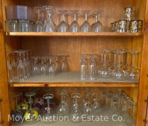 Group of Glass Stemware & Drinking Glasses
