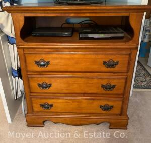 "3dr. Chest of Drawers with open top, 37"" wide x 41""h, exc. condition, purch. new in 2011"