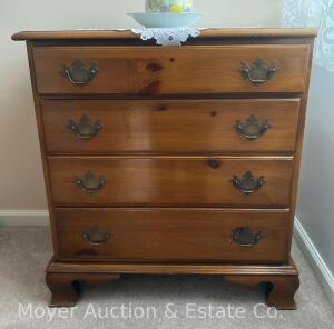 "4 Drawer Pine Chest, good condition, 29"" wide"