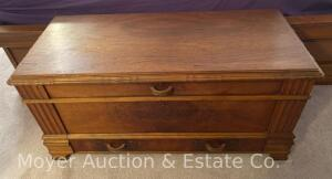 "Roos Cedar Chest with drawer, nice condition, 45"" wide"