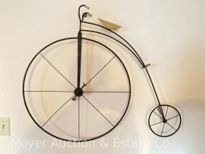"High-Wheel Bicycle Wall Decor, metal, 35"" Wide"