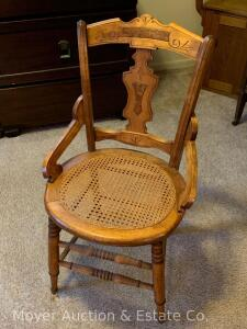 Cane-seat Victorian Side Chair, good condition