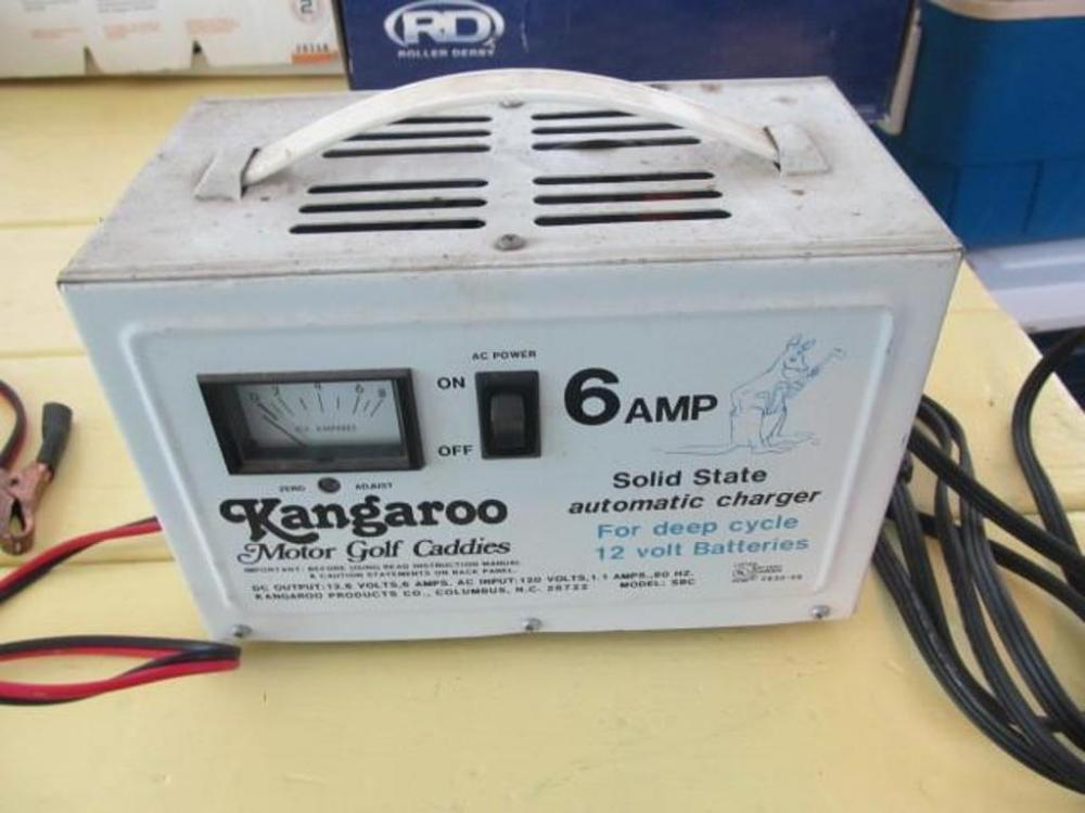 Kangaroo 6 amp, 12 volt deep cycle charger - Current price: $10