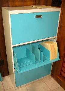tip-out file cabinet