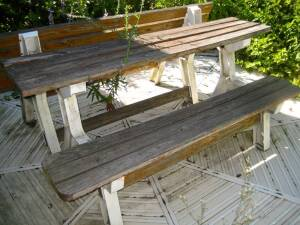 Picnic table / benches