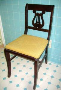 Lyre-back chair