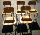 6 school chairs
