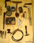 Misc. lot incl. torch, 2 crucibles, stakes, punches, burner, etc. (see pics)
