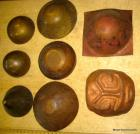 Group of unfinished copper & brass smithing projects
