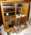 Oak entertainment cabinet w/stereo components
