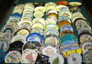 Plate collection, over 70+ plates from various states, etc. (Bid is for all plates)