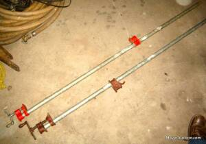 Pair of pipe clamps, each is 5ft. long (bid is for both)