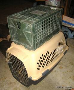 Medium size dog/animal crate & small crate (bid is for both)