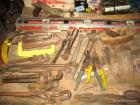 Group of asst. hand tools: wrenches, drawshave, level, plane, tin snips, C-clamps, etc. (bid is for all)