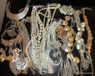 Group of costume jewelry necklaces including lg. choker