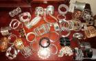 Group of costume jewelry cuff bracelets, watches & bangles