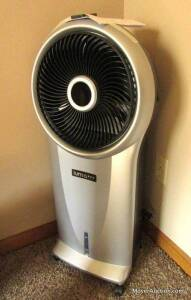 Luma portable evaporative air cooler, model #EC110S, with remote control, like-new condition.