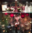 Group of glassware & porcelain figurines