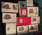 Collection of Liberty Falls Village miniature buildings