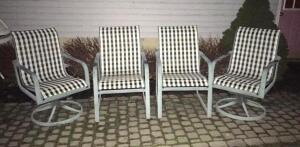 3 sets of 4 patio chairs
