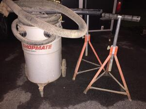 Shopmate dust collection vacuum & 2 roller extensions