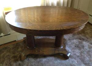 Oval library table