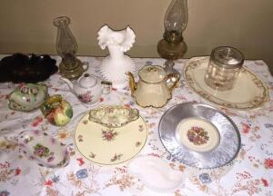 Group of decorative glass & china