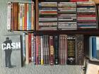 Collection of CDs, DVDs & stereo components